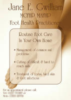 Foot Health Practitioner Advertising Flyer