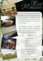 Kent Marquees Wedding Fayre Flyer
