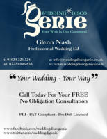 Wedding Disco Genie Business Card - Front & Back
