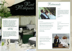 Kent Marquees Brochure - Cover & Sample Page (14 page PDF. Includes clickable contents page and bookmark thumbnails.)